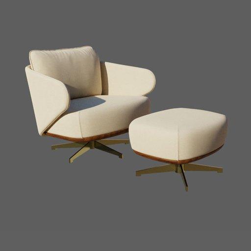 Thumbnail: Jolie armchair with Ottoman
