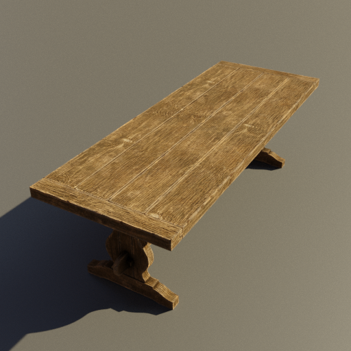 Thumbnail: Medieval wooden long table