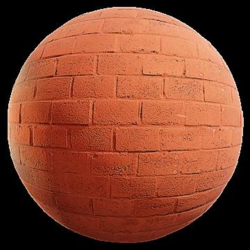 Thumbnail: Red Painted Brick Wall