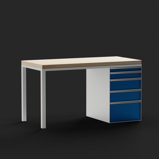Thumbnail: Row workbench with cabinet housing.