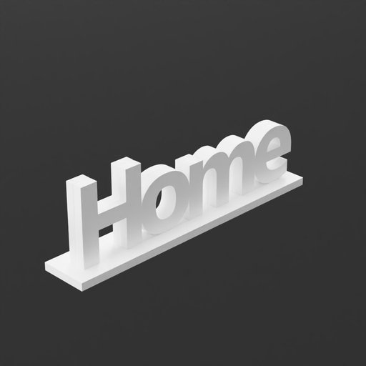 Home Sign White