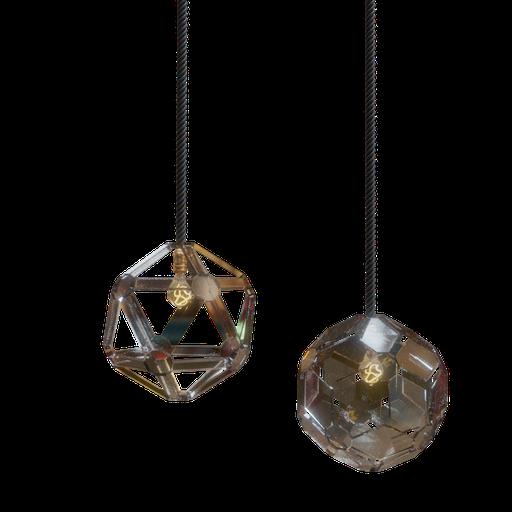 Thumbnail: Shiny glass lamp
