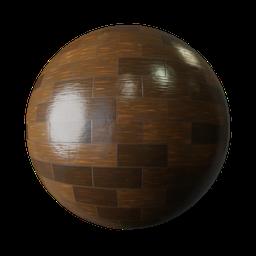 Thumbnail: Wooden floor imitation tiles