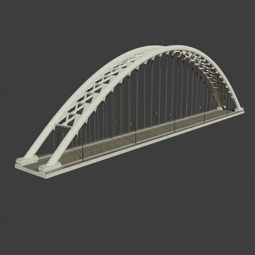 Suspension/arch bridge