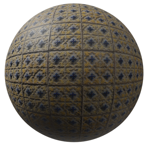 Thumbnail: Tiles ornamental blue and yellow
