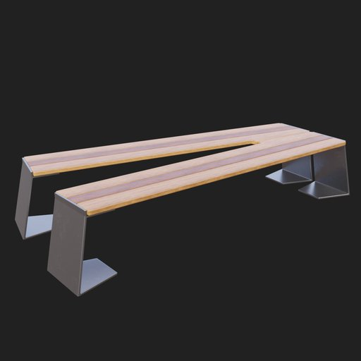 Thumbnail: Modern Street Bench #03