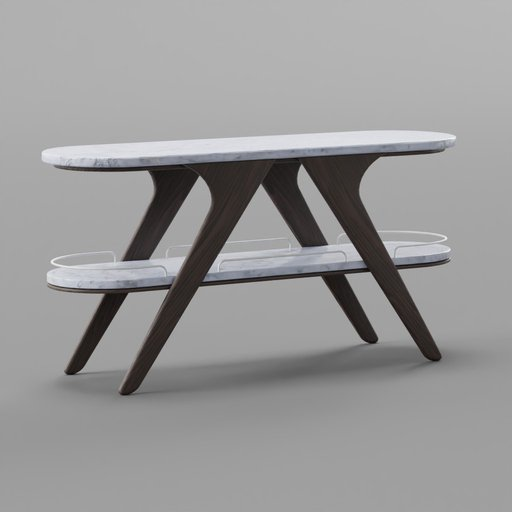 Thumbnail: Double Layer Marble Console Table