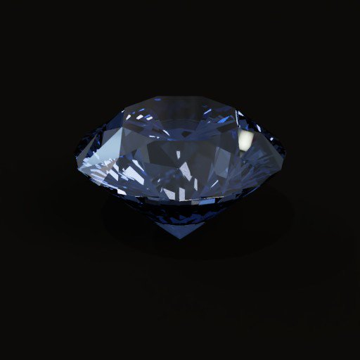 Thumbnail: Brilliant cut Diamond(Blue)