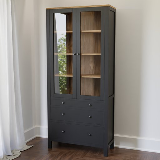 Thumbnail: Hemnes Glass Door Cabinet